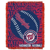 "Washington Nationals MLB ""Double Play"" Woven Jacquard Throw"