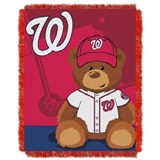 "Washington Nationals MLB ""Field Bear"" Baby Woven Jacquard Throw"