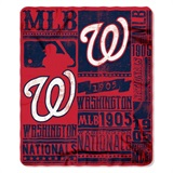 "Washington Nationals MLB ""Strength"" Fleece Throw"