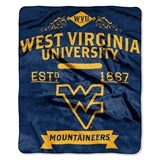 "West Virginia ""Label"" Raschel Throw"