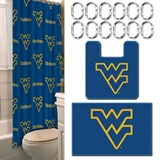 West Virginia Mountaineers NCAA 15-Piece Bath Set
