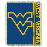 "West Virginia Mountaineers NCAA ""Double Play"" Woven Jacquard Throw"