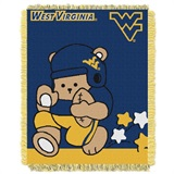 "West Virginia Mountaineers NCAA ""Fullback"" Baby Woven Jacquard Throw"