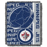 "Winnepeg Jets NHL ""Double Play"" Woven Jacquard Throw"