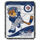 "Winnepeg Jets NHL ""Score Baby"" Baby Woven Jacquard Throw"