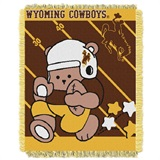 "Wyoming Cowboys NCAA ""Fullback"" Baby Woven Jacquard Throw"